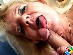 The grandma has a dripping wet and sexy pussy and the young guy fucks her deeply